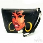 Les Initiés lined makeup case black woman hoop earrings