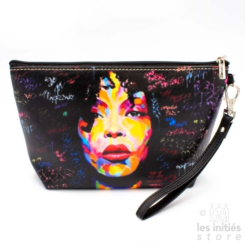 Les Initiés lined makeup case black disco woman