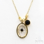 Les Initiés black Swarovski crystal star necklace - gold