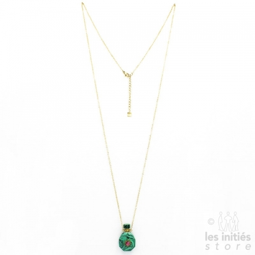 malachite vial necklace