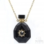 Black Onyx bottle necklace