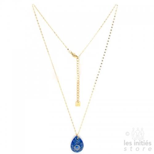 Collier pierre bleue