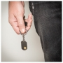 socket keychain - steel