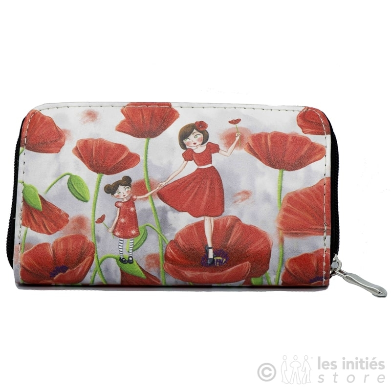 Poppy wallet - Red