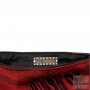 Designer handmade evening clutch bag - Black-red