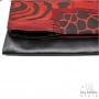 Sac pochette de soirée fait main créateur - Noir-rouge