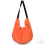 Reversible designer carrier bag with Iris pattern - Orange