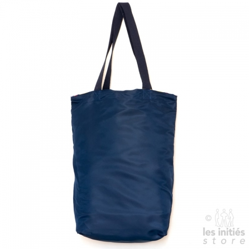Designer reversible sun lounger cover beach bag - Blue-blue