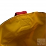 Designer reversible sun lounger cover beach bag - khaki-yellow