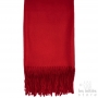 deep red cashmere scarf
