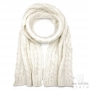 thick scarf off white