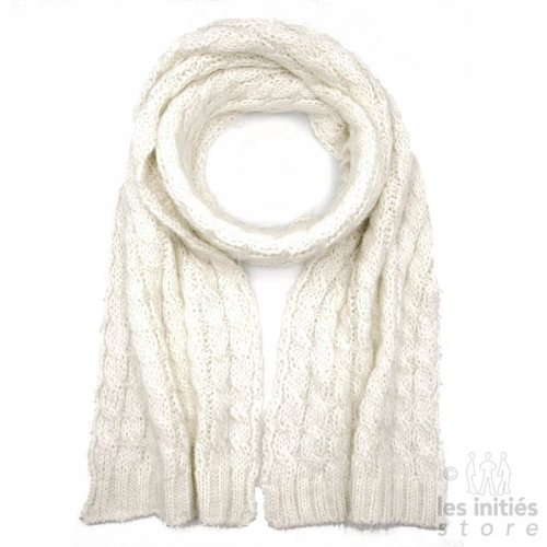 Mohair scarf - Off white