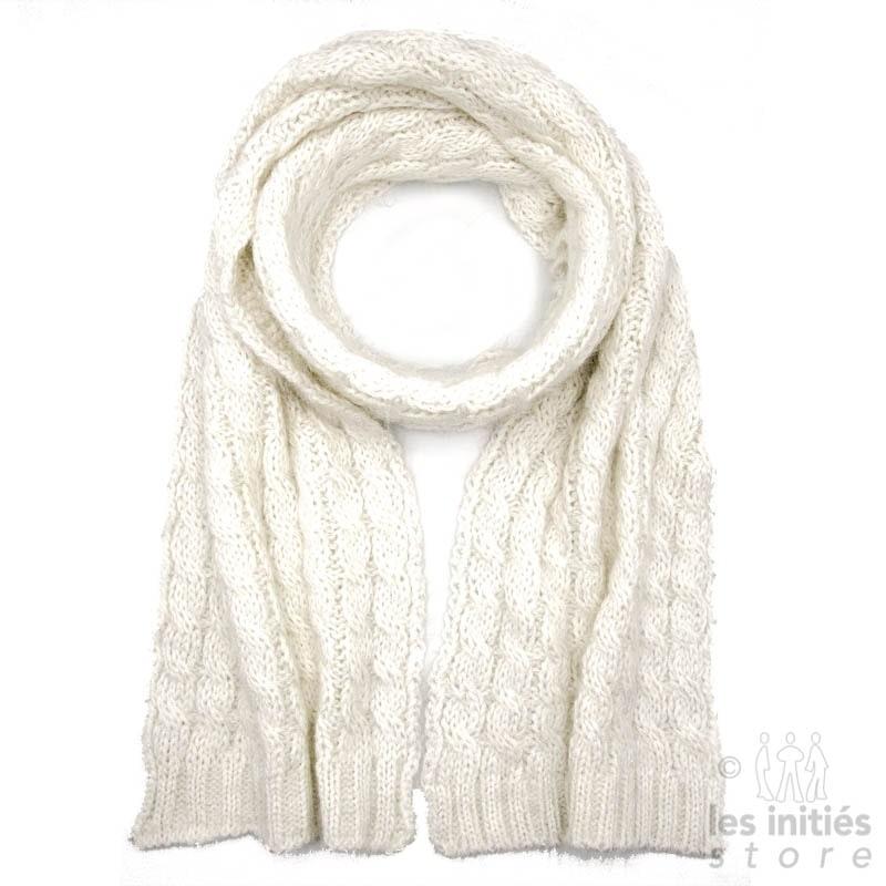 Echarpe mohair - Blanc cassé
