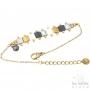 Bracelet Les Initiés perles miyuki articulées - Gris doré nacré