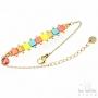 Bracelet Les Initiés perles miyuki articulées - Rose or jaune bleu