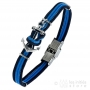 Elden 4 rows anchor bracelet - blue and black - steel