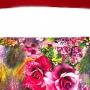 sac rose à fleur