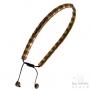Bracelet Les Initiés chaîne perles imbriquées cuivré marron acier