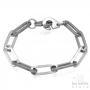 Big links handcuffs bracelet for men - steel