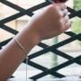 Bracelet rangée de strass Les Initiés - Argent 925