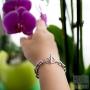 Bracelet gros maillons femme acier