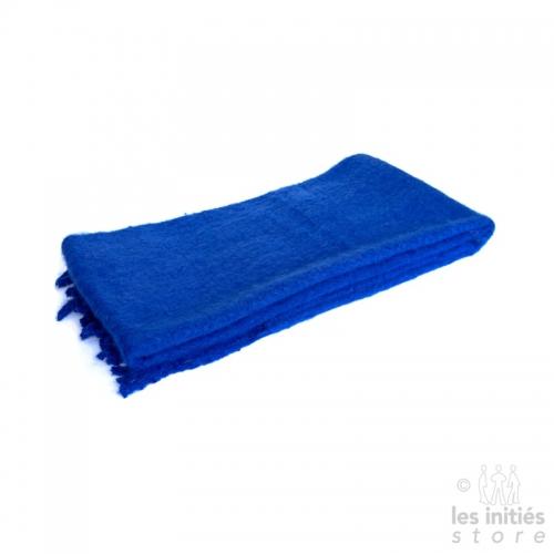 Grande écharpe épaisse unie - bleu