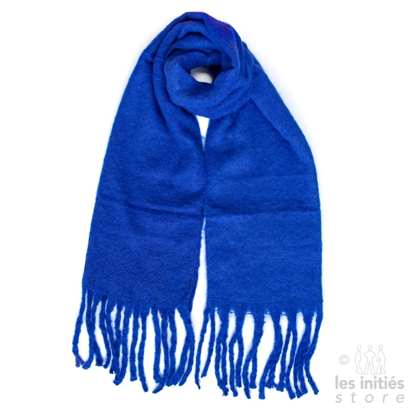blue thick scarf