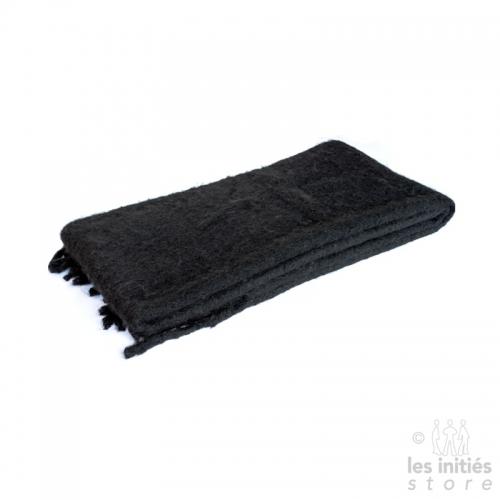 Grande écharpe épaisse unie - Noir