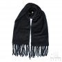 black thick scarf