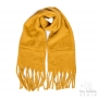 Large thick plain scarf - Ochre