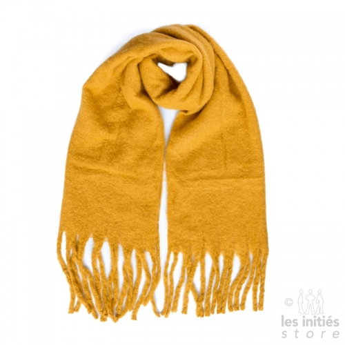 Grande écharpe jaune