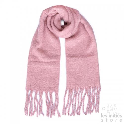 Grande écharpe épaisse unie - Rose