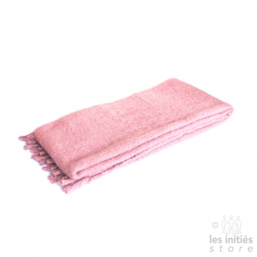 Large thick plain scarf - Pink