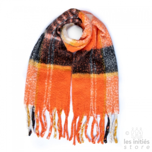Large orange scarf