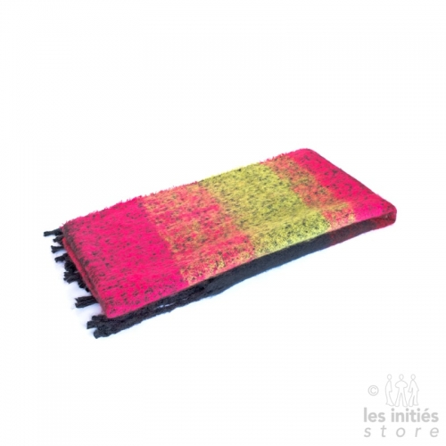 Grande écharpe épaisse couleur degradée - kaki - fuchsia - marine
