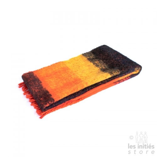 Large thick ochre orange scarf