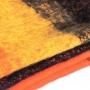 Large thick black orange scarf