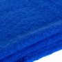 Large thick plain scarf - blue