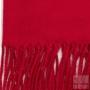 Echarpe à franges rouge