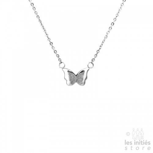 Butterfly necklace - steel