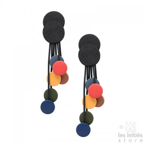 Boucles d'oreilles longues colorées
