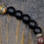 Bracelet Bouddha perles marbrées onyx