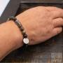 Buddha bracelet marbled onyx beads
