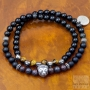Bracelet two turns onyx tiger eye lion