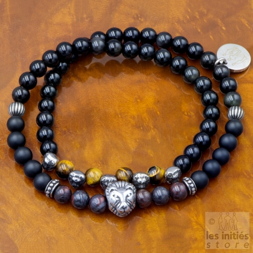 mens black pearl bracelet