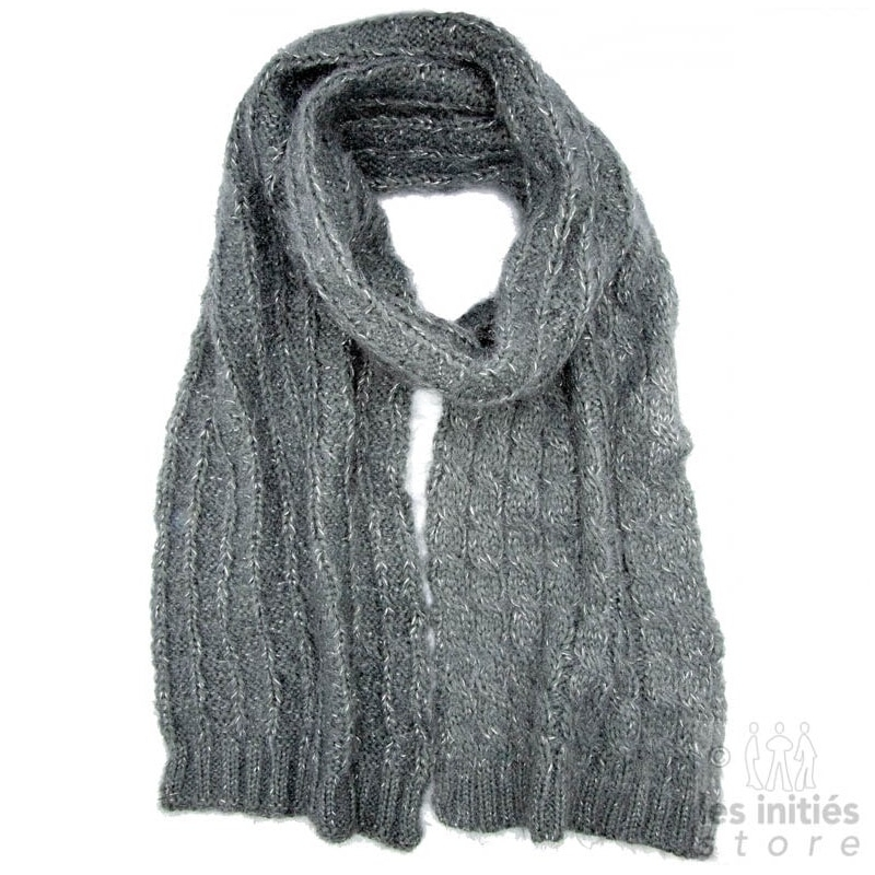 grey thick scarf
