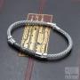 Bracelet câble tressé façon serpent - Acier