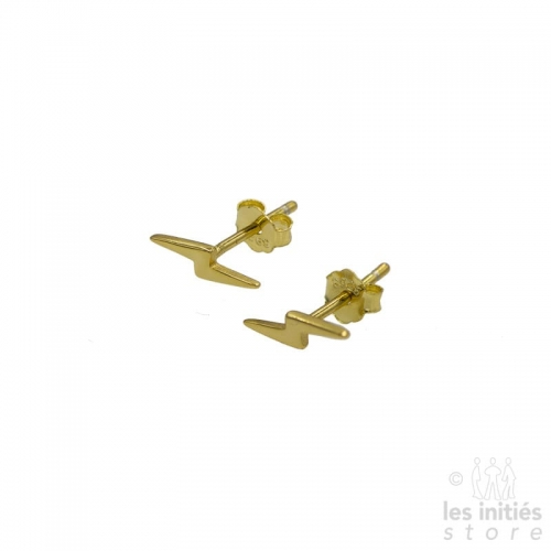 Les Initiés small flash earrings - gold plated 925 sterling silver