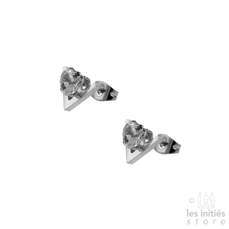 V earrings silver