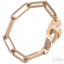 Big links handcuffs bracelet rose gold plated
